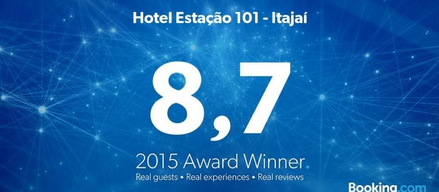Hotel Estação 101 recebeu o prêmio Guest Review Award